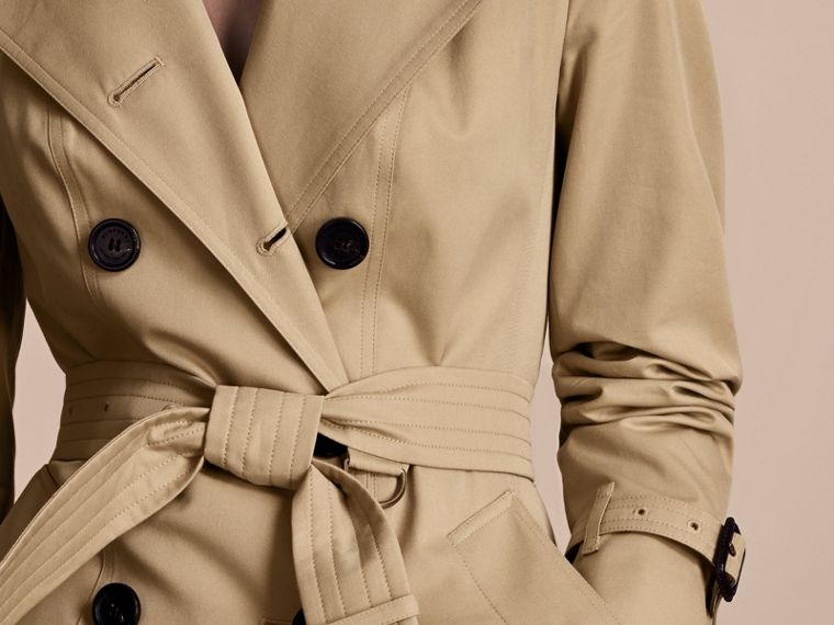 Honey The Chelsea – Long Heritage Trench Coat Honey - cell image 4