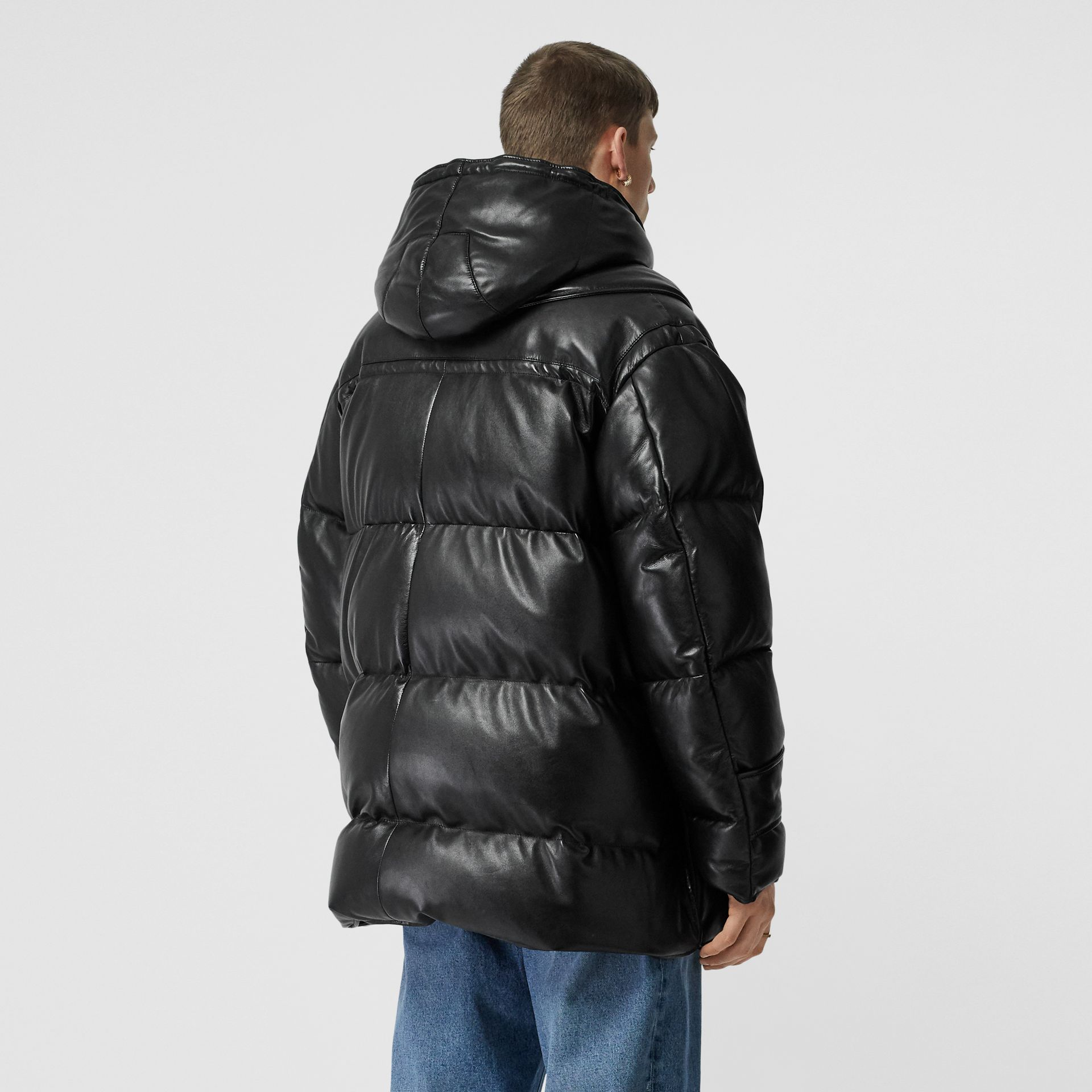 Plonge Lambskin Puffer Jacket in Black - Men | Burberry - gallery image 2