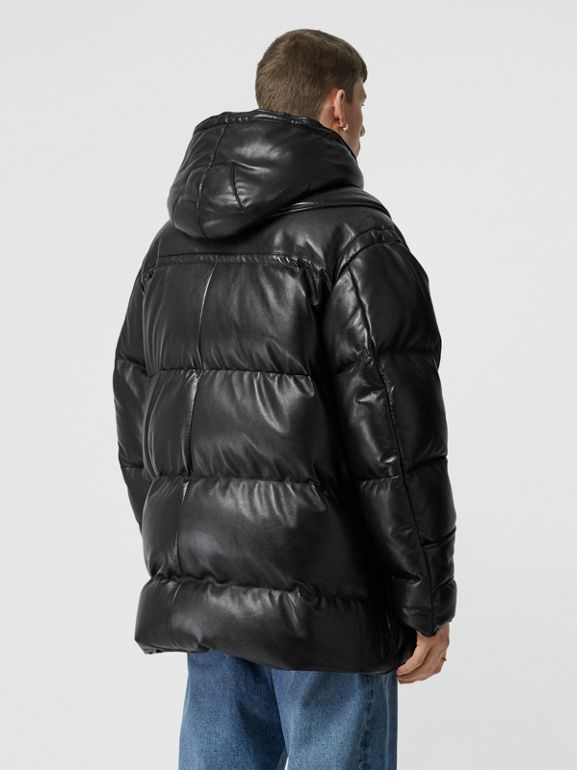 Plonge Lambskin Puffer Jacket in Black - Men | Burberry - cell image 1