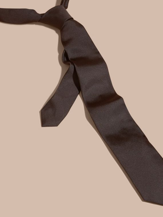 Charcoal Modern Cut Silk Twill Tie Charcoal - cell image 3