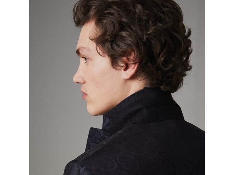 Soho Fit Spot Silk Evening Jacket in Midnight Blue - Men | Burberry - cell image 4