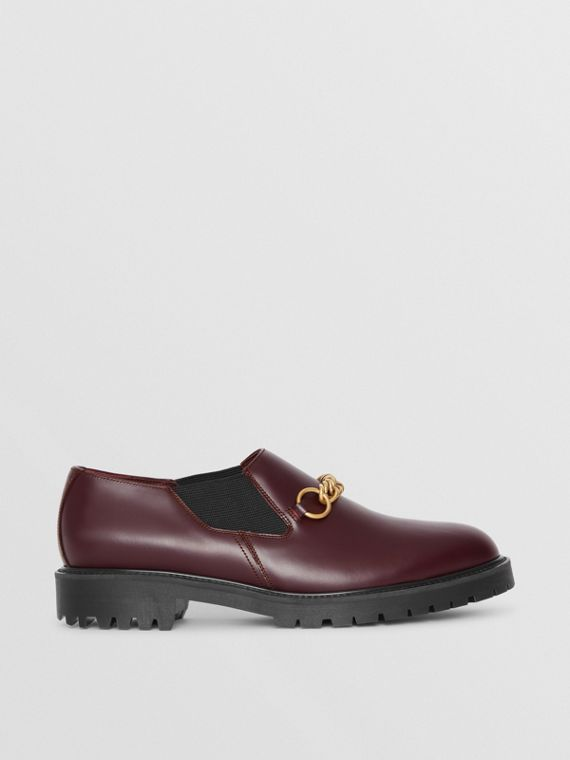 Link Detail Leather Shoe in Oxblood