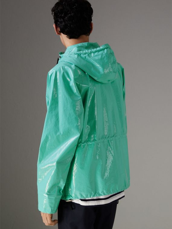 Laminated Cotton Anorak in Aqua Blue - Men | Burberry - cell image 2