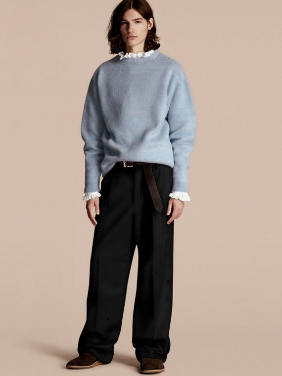 Suéter de lã e cashmere escovados