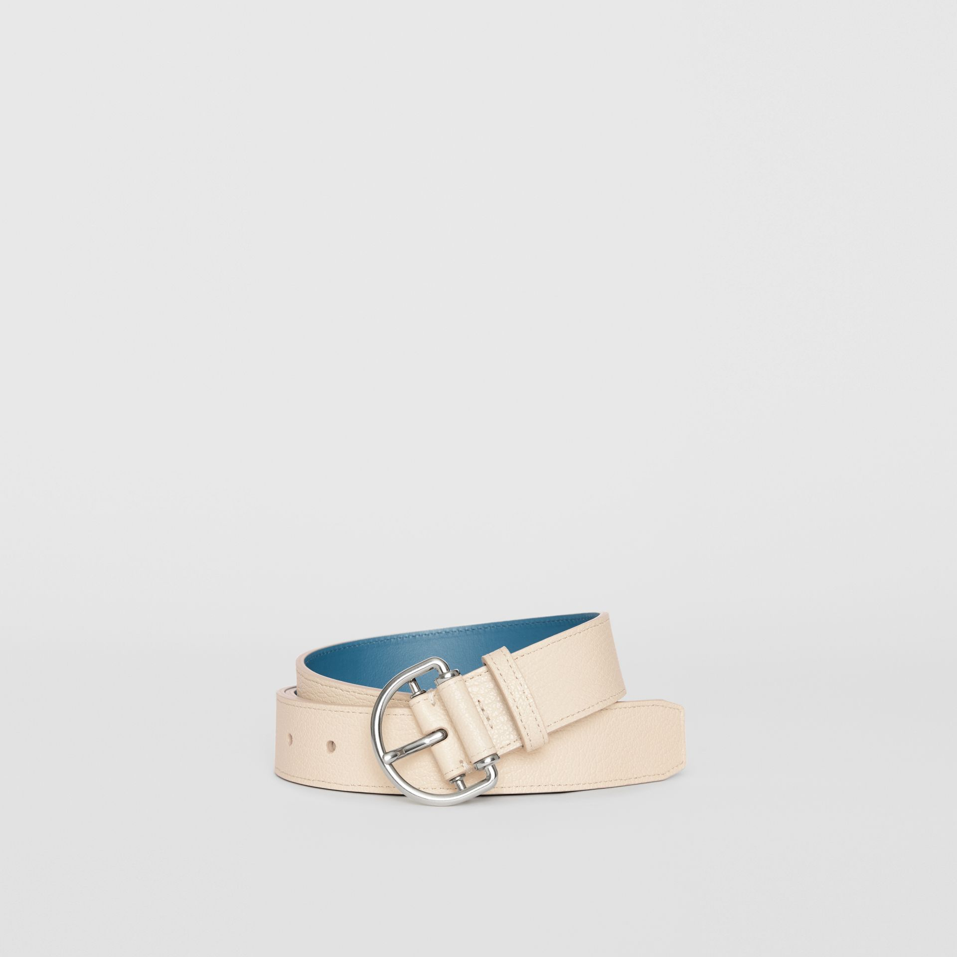 Grainy Leather D-ring Belt in Stone/pewter Blue - Women | Burberry - gallery image 0