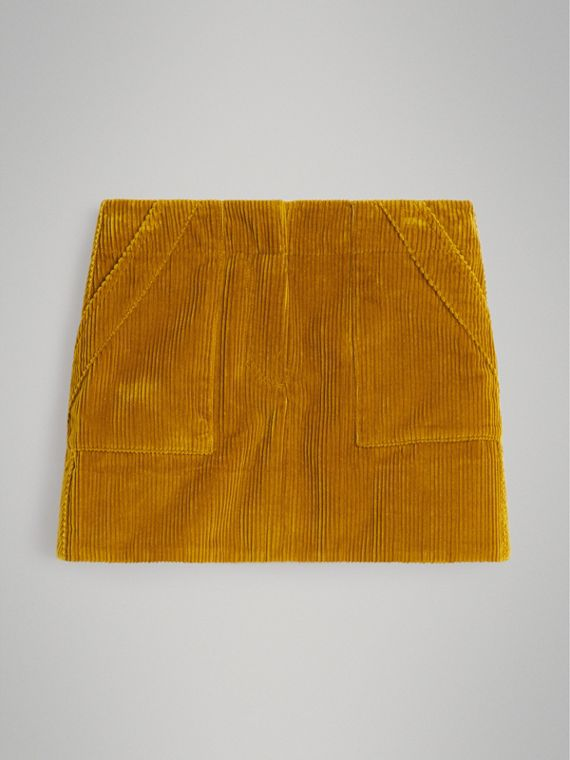 Corduroy A-line Skirt in Ochre