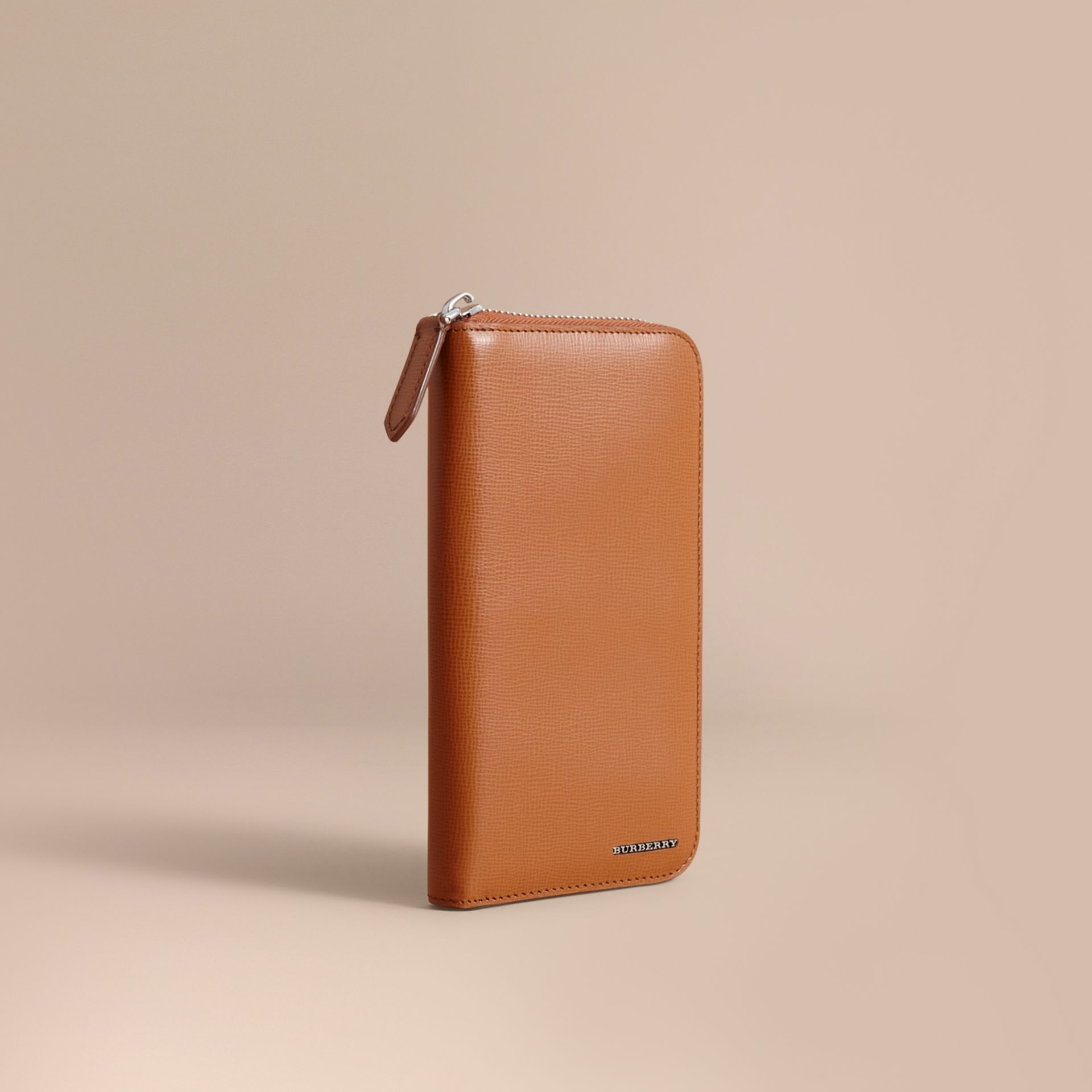 London Leather Ziparound Wallet Tan - gallery image 1