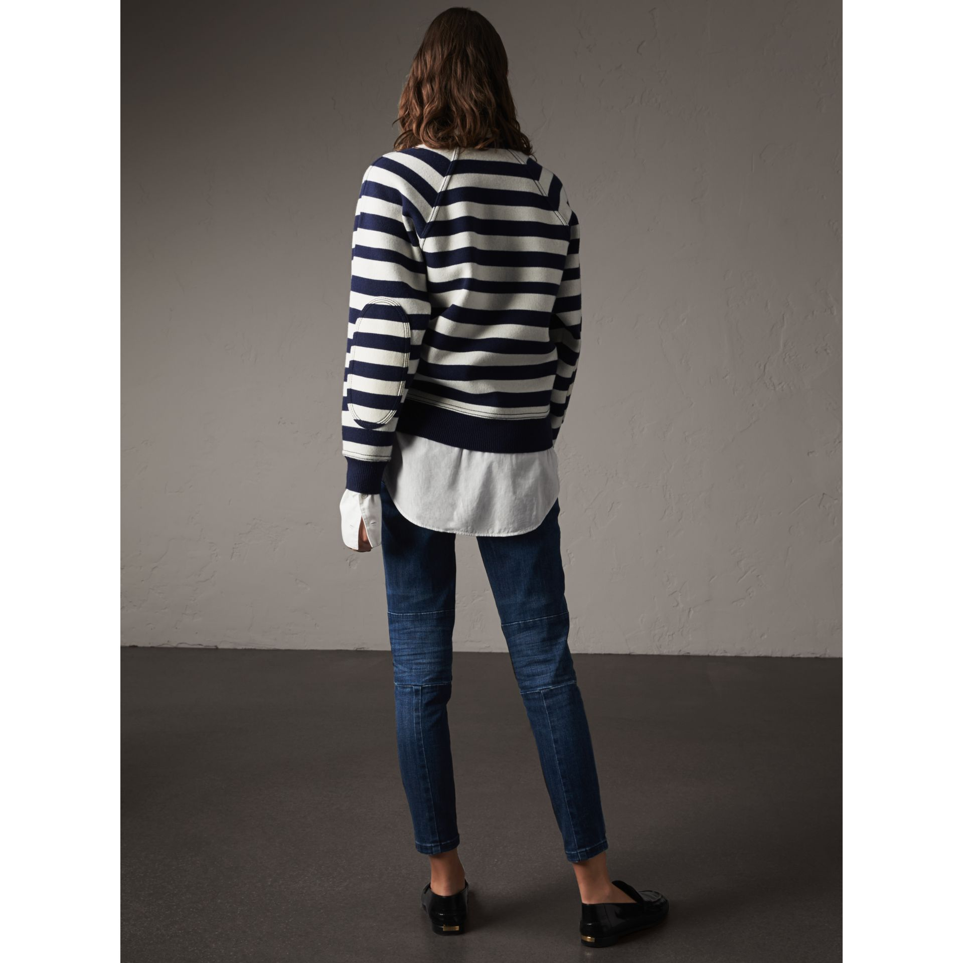 Breton Stripe Wool Cashmere Blend Sweater - Women | Burberry - gallery image 3