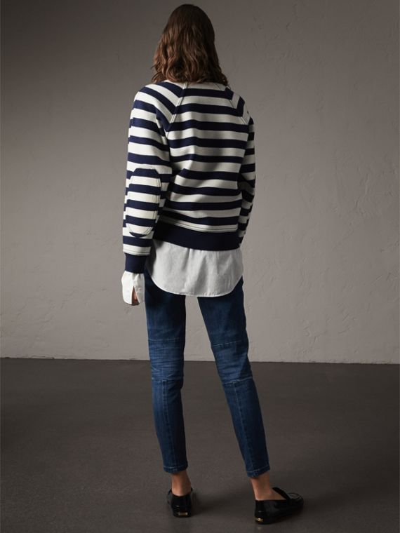 Breton Stripe Wool Cashmere Blend Sweater - Women | Burberry - cell image 2