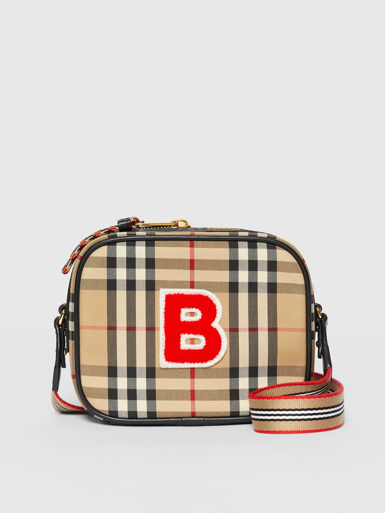 Vintage Check ECONYL® Camera Bag in Archive Beige