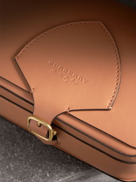 The Square Satchel in Leather in Camel - Women | Burberry - cell image 1