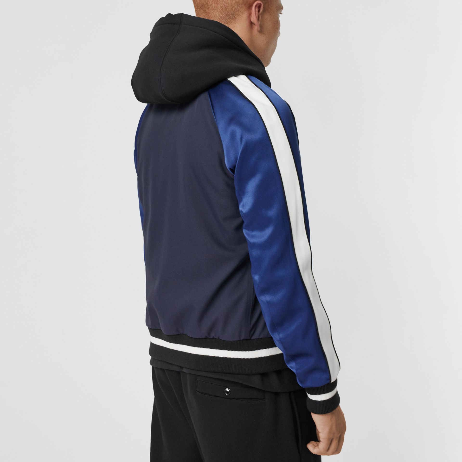 EKD Logo Nylon Varsity Jacket in Navy - Men | Burberry United Kingdom - gallery image 2