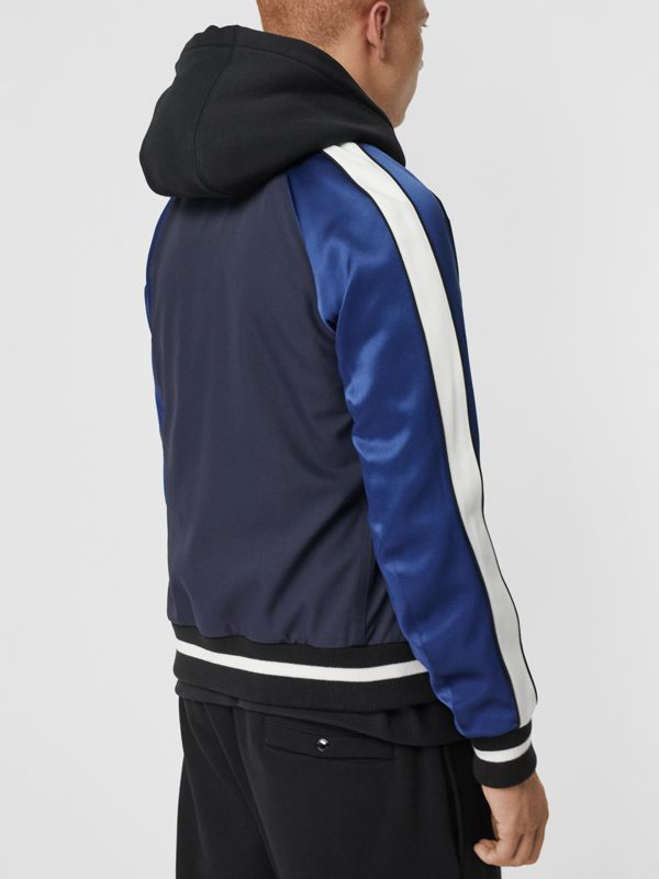 EKD Logo Nylon Varsity Jacket in Navy - Men | Burberry - cell image 2