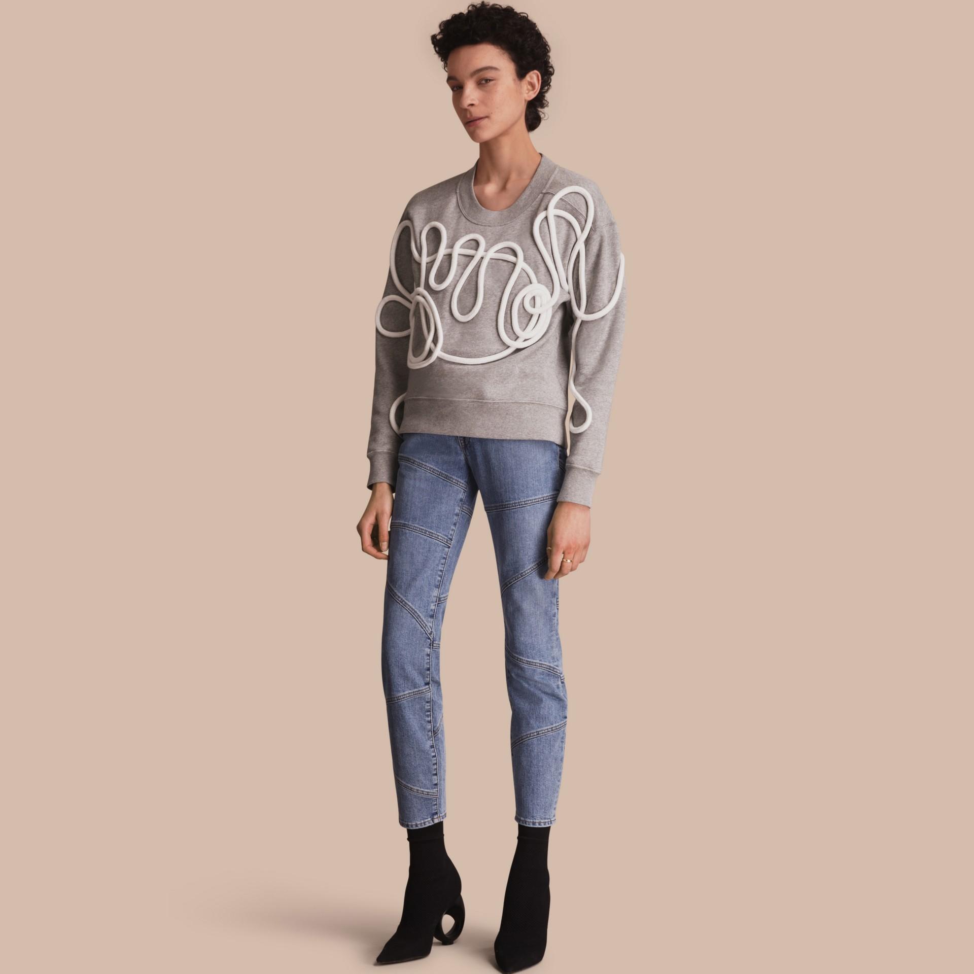 Slim Fit Seam Detail Japanese Denim Jeans - gallery image 1