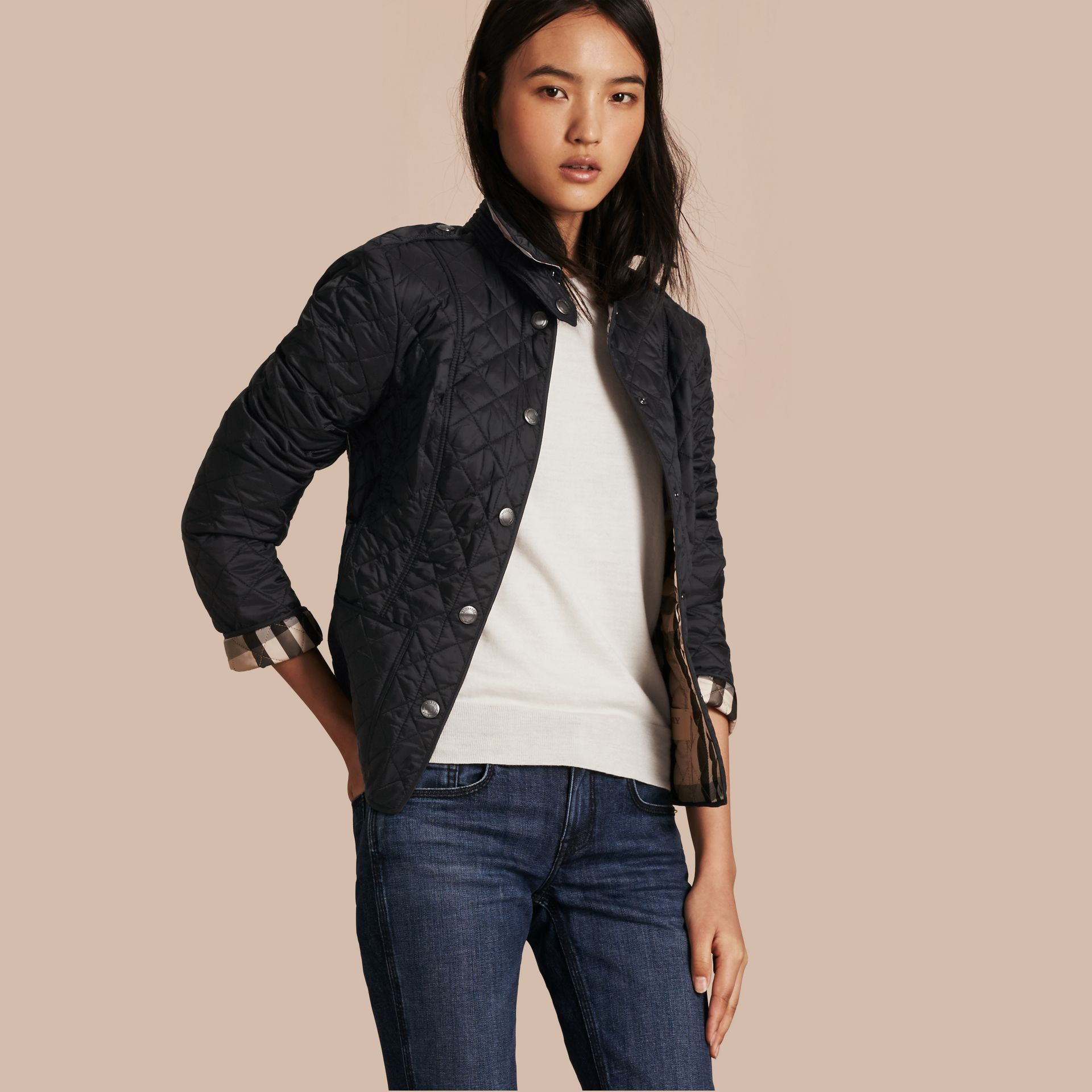 Black Diamond Quilted Jacket Black - gallery image 1