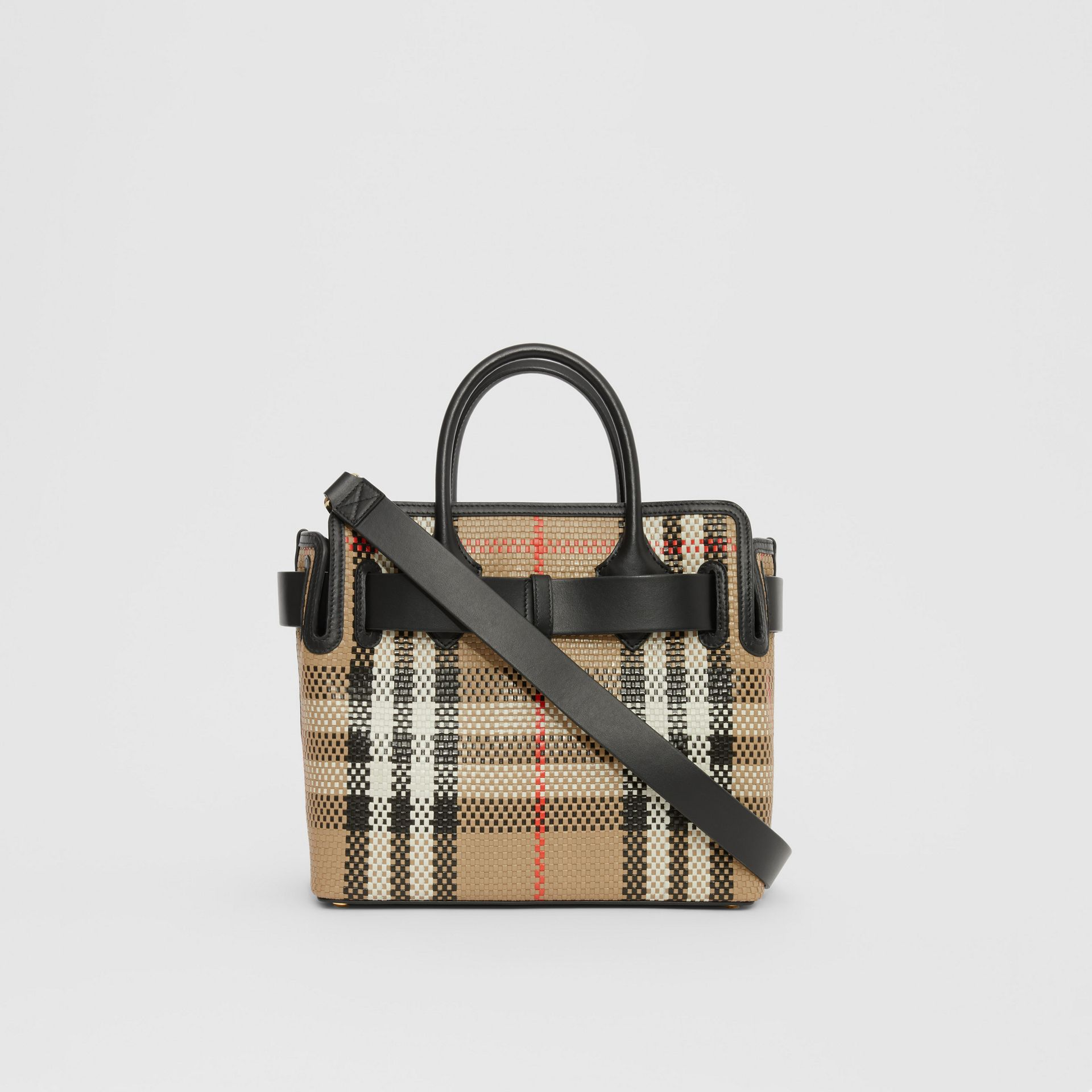 The Small Latticed Leather Triple Stud Belt Bag in Archive Beige - Women | Burberry United Kingdom - gallery image 7