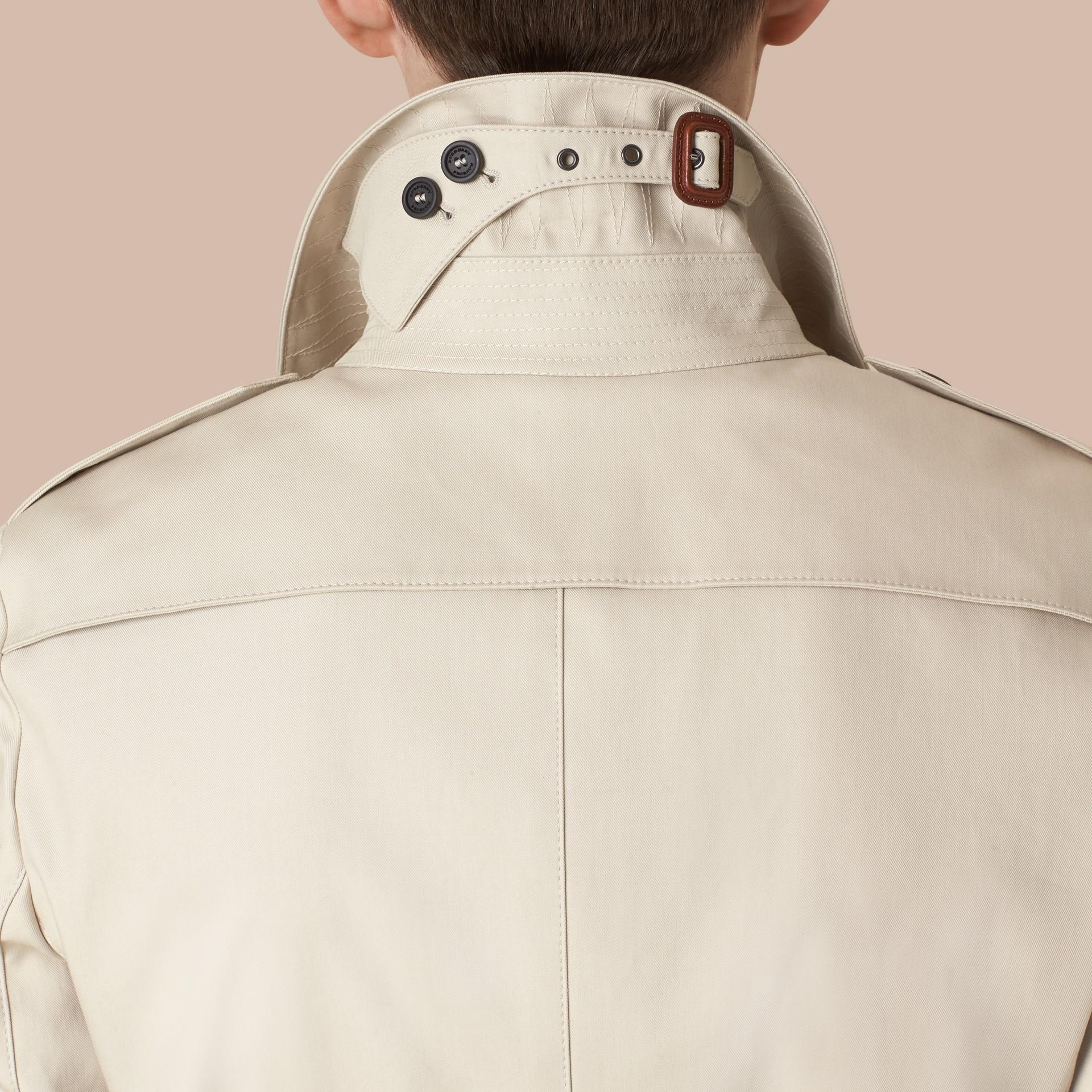 Stone Trench-coat en gabardine de coton - photo de la galerie 2