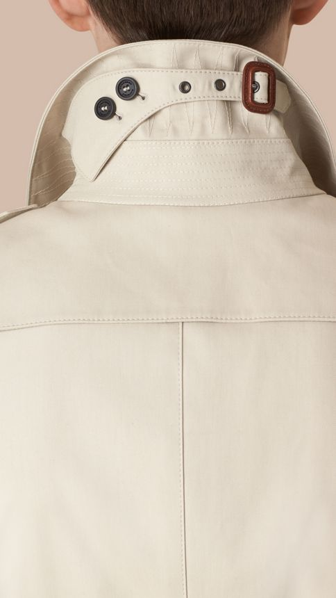 Stone Cotton Gabardine Trench Coat Stone - Image 2