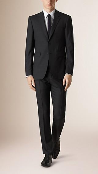 Costume de coupe moderne en laine check Prince de Galles