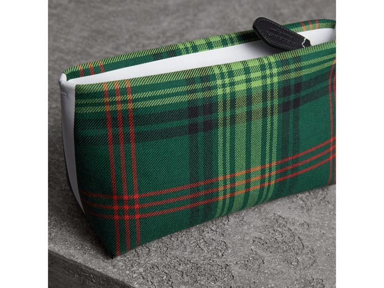 Tartan Cotton Clutch in Pine Green/blue | Burberry Australia - cell image 4