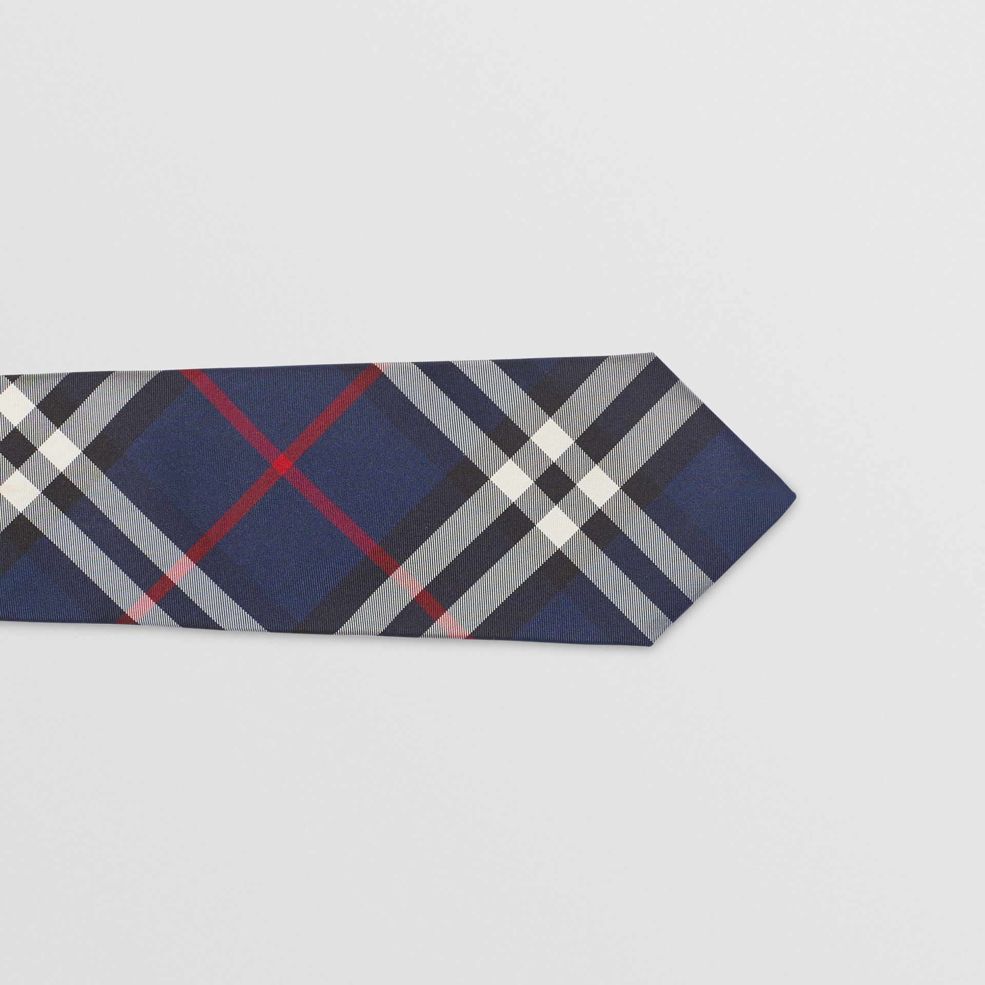 Modern Cut Vintage Check Silk Tie in Navy - Men | Burberry Singapore - gallery image 1