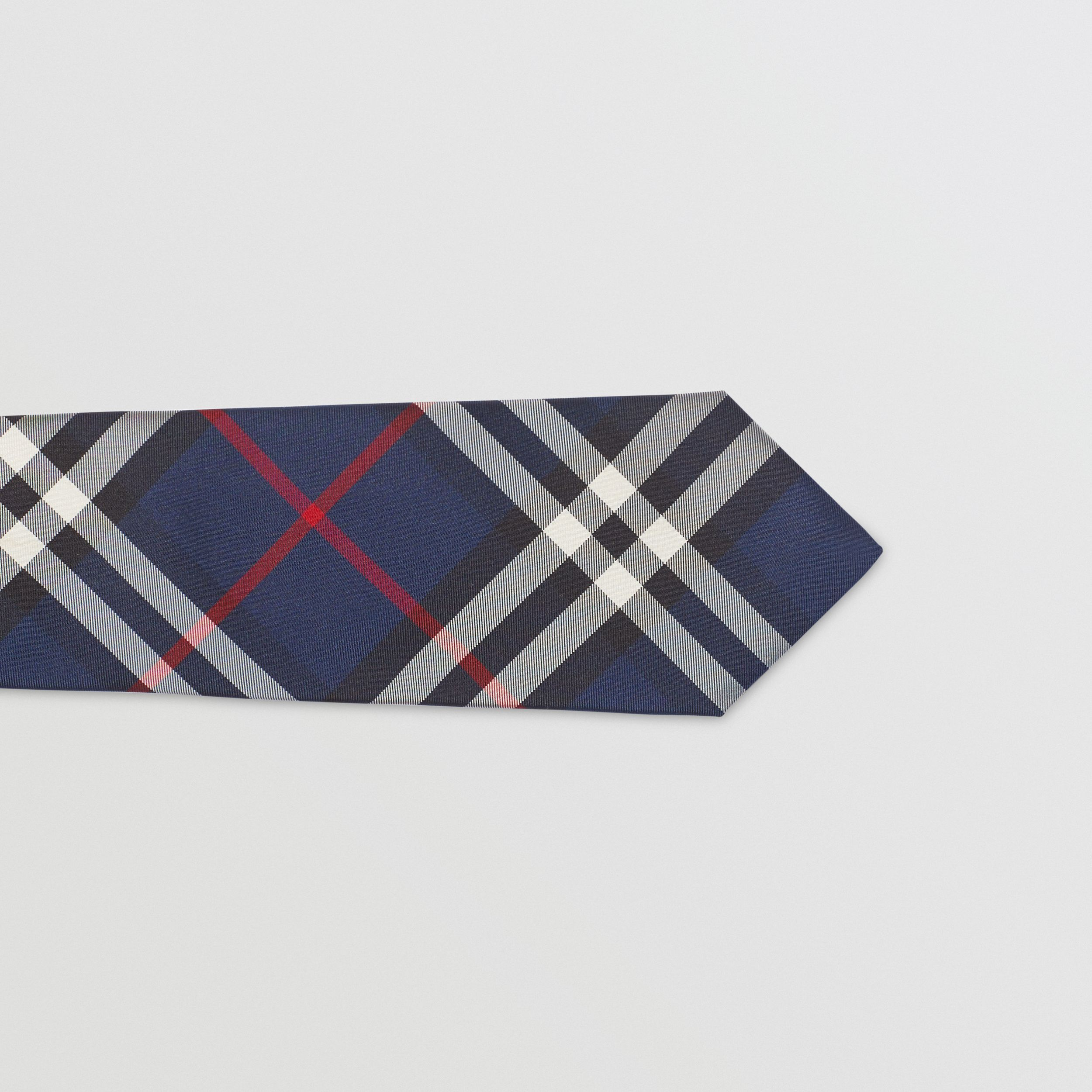Modern Cut Vintage Check Silk Tie in Navy - Men | Burberry - 2