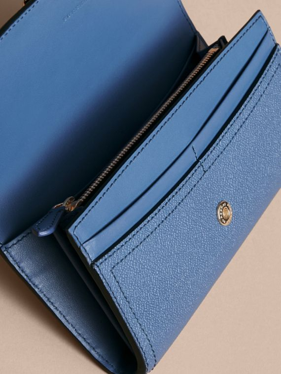 Textured Leather Continental Wallet in Steel Blue - Women | Burberry - cell image 3