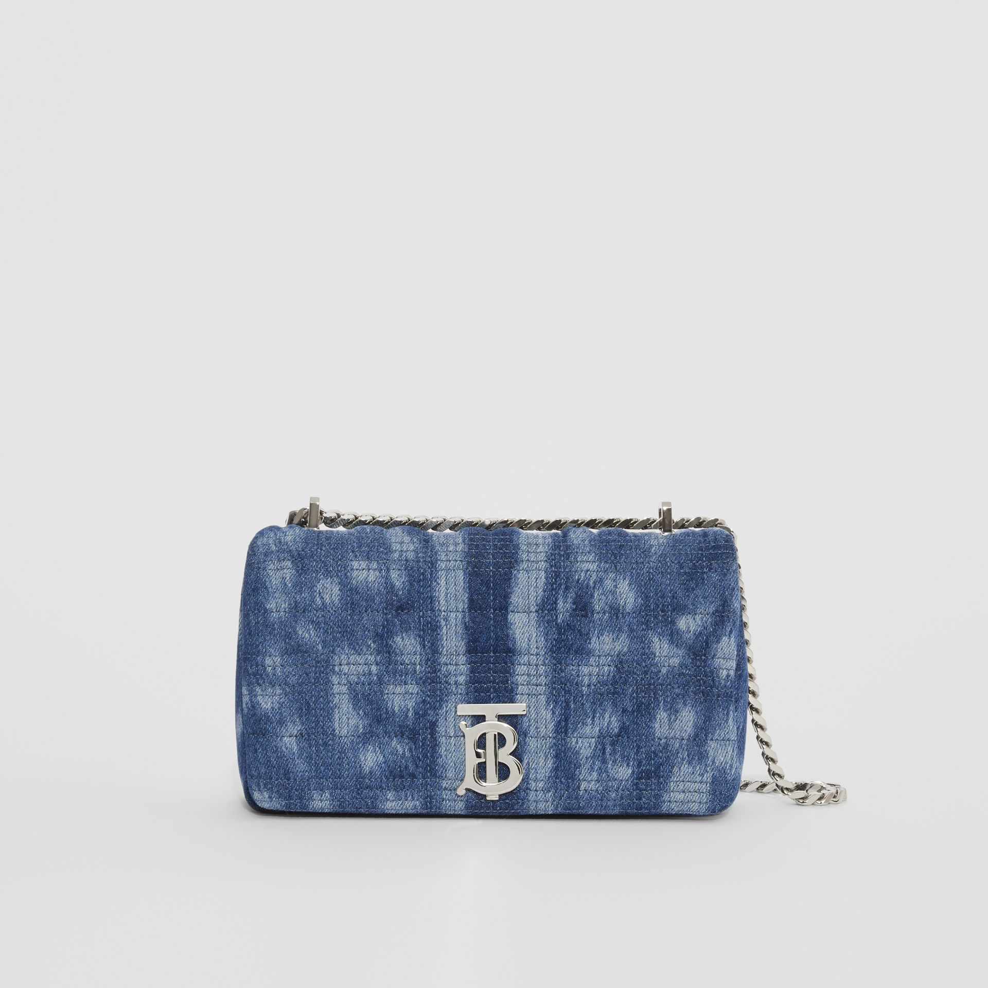 Small Quilted Denim Lola Bag in Blue | Burberry - gallery image 0
