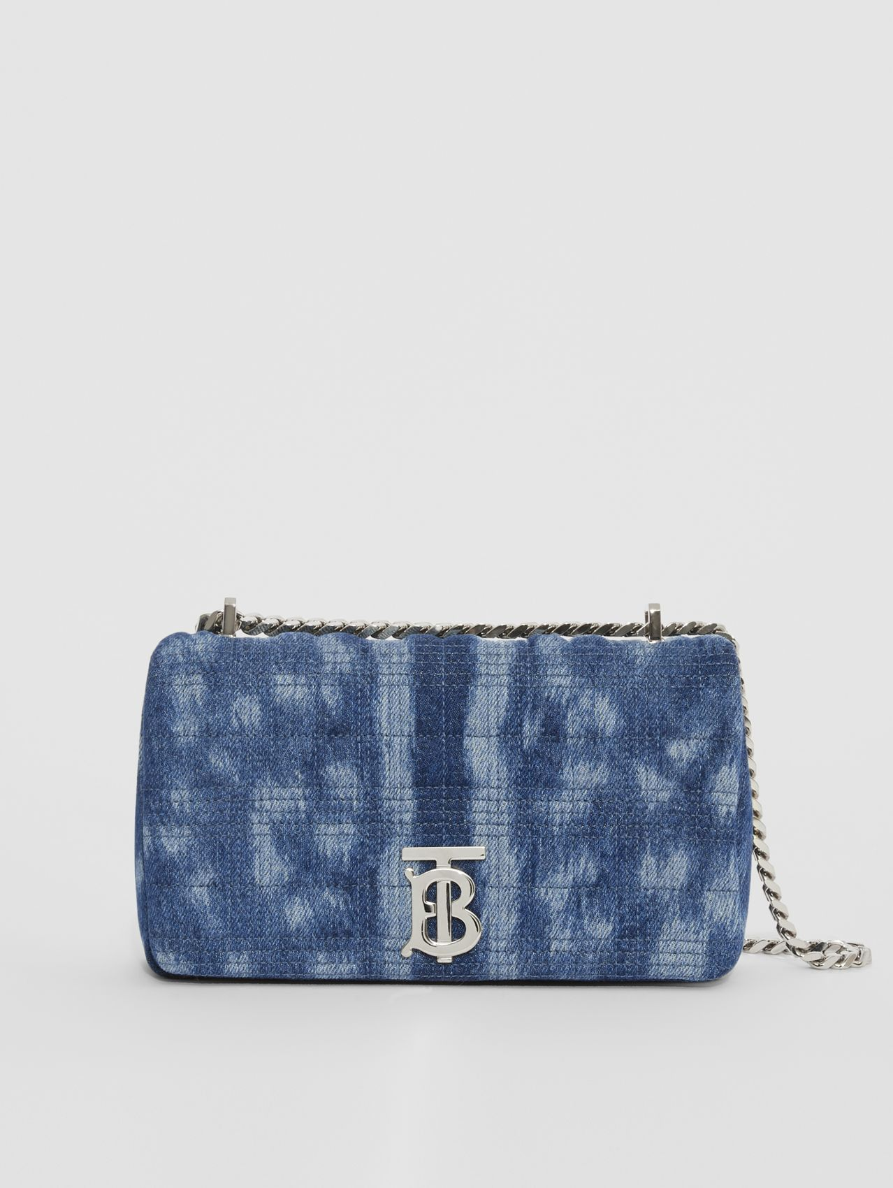 Small Quilted Denim Lola Bag in Blue