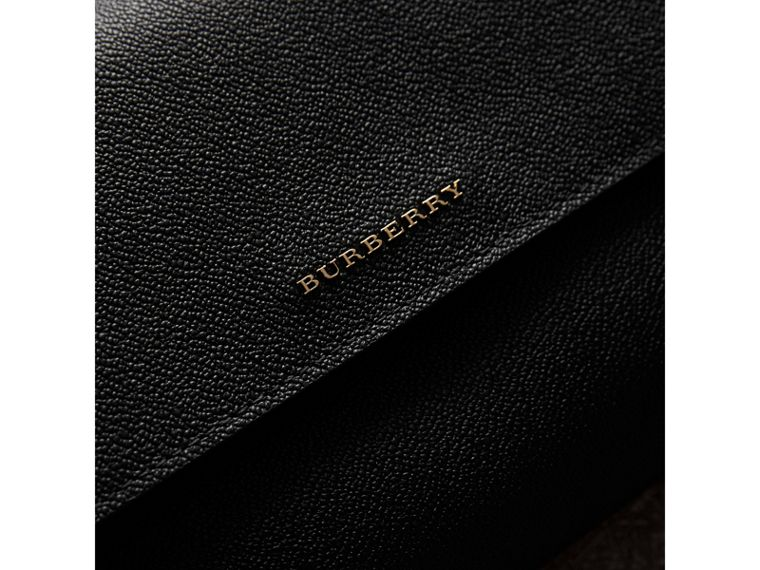 Grainy Leather Crossbody Bag in Black - Women | Burberry United Kingdom - cell image 1