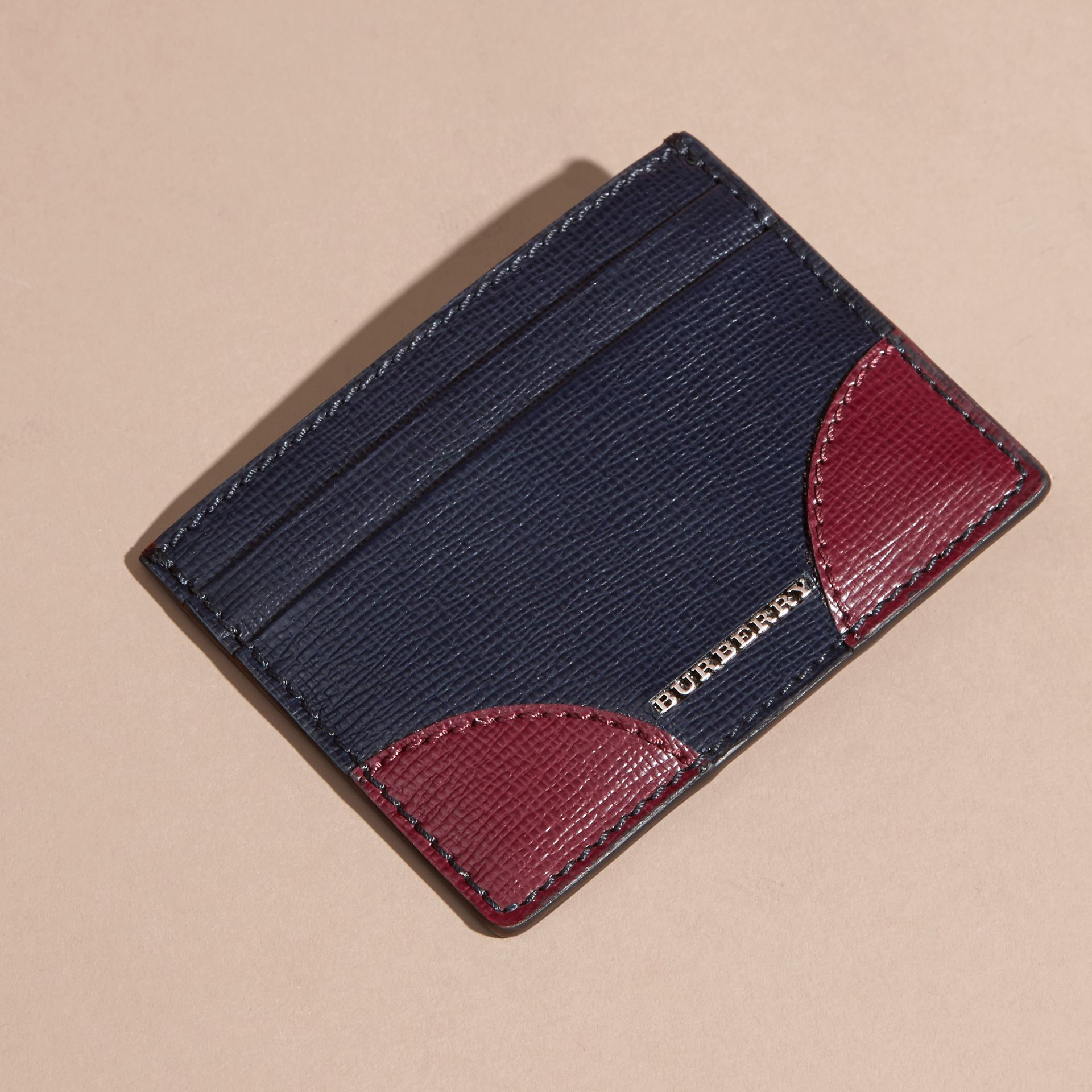 Contrast Corner London Leather Card Case - gallery image 6