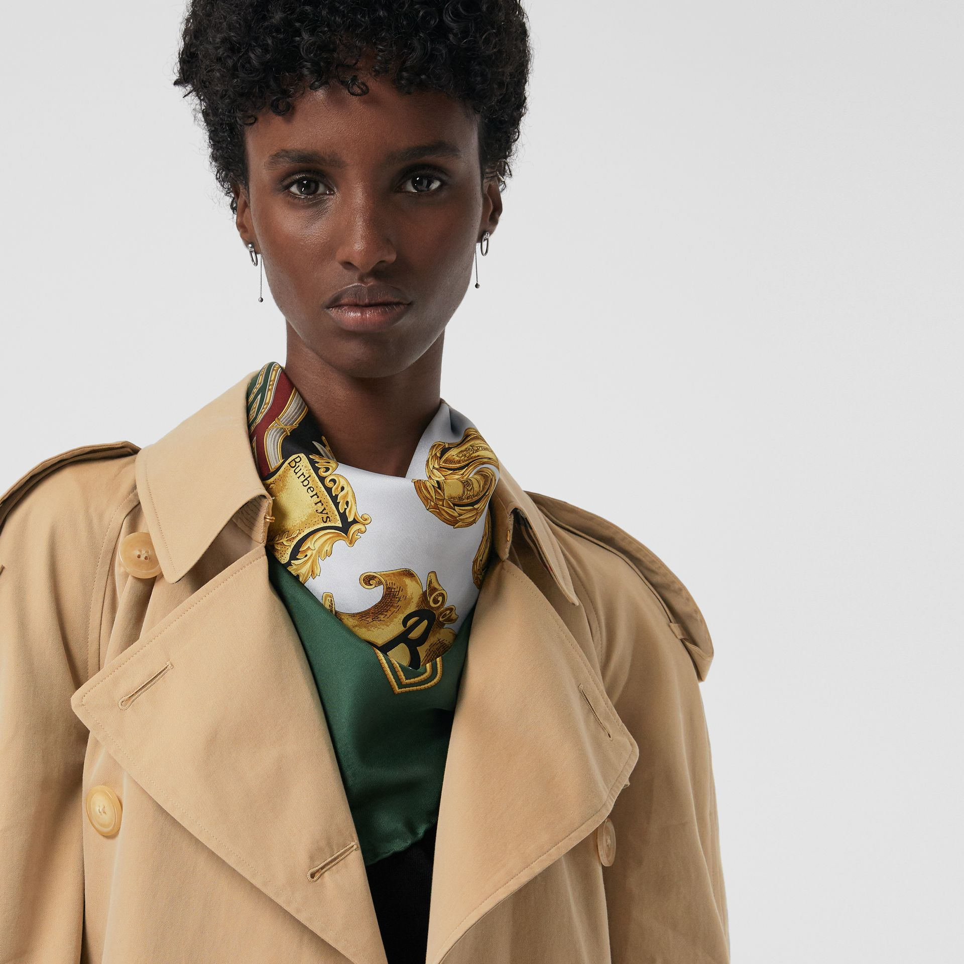 The Long Westminster Heritage Trench Coat in Honey - Women | Burberry - gallery image 1