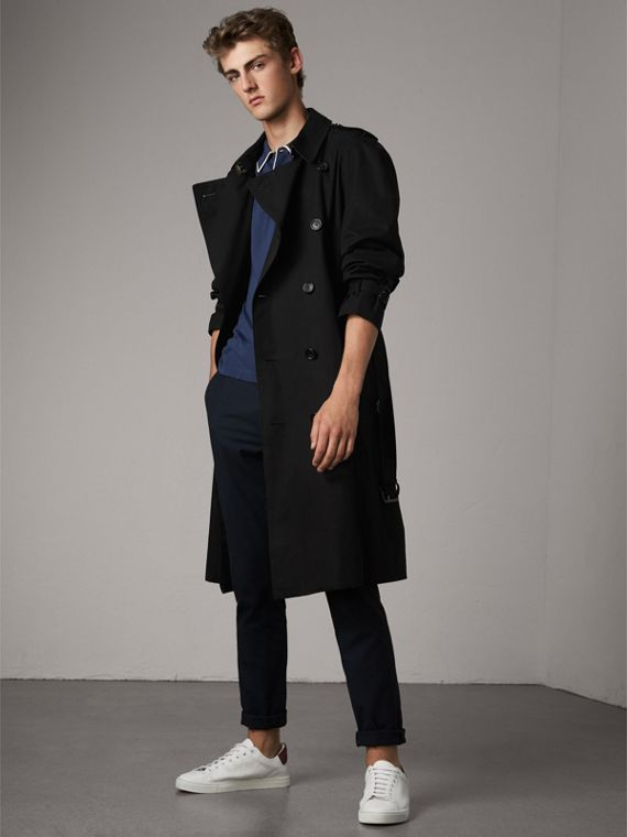 The Westminster – Extra-long Heritage Trench Coat in Black
