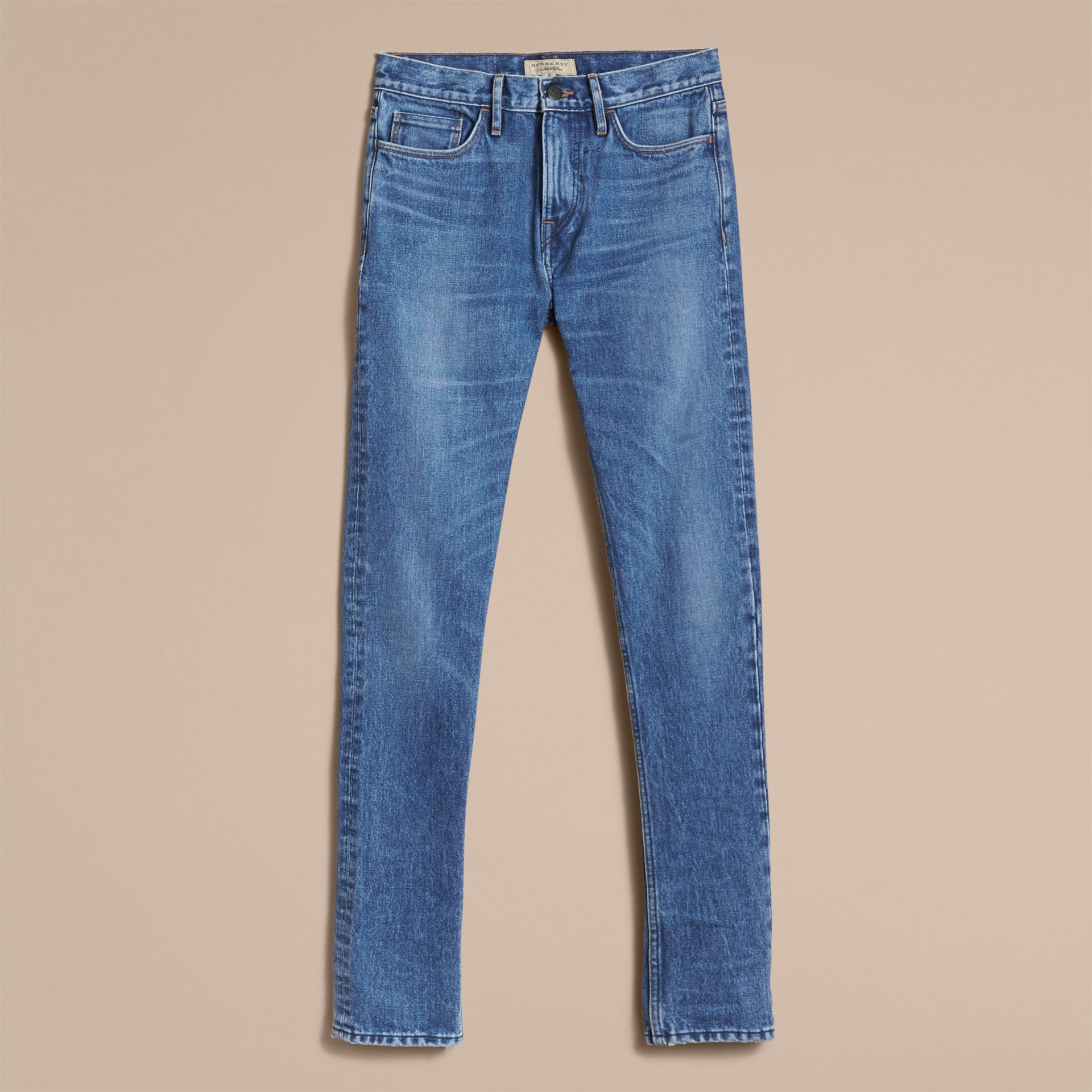 Skinny Fit Stretch-denim Jeans in Mid Indigo - Men | Burberry Canada - gallery image 4