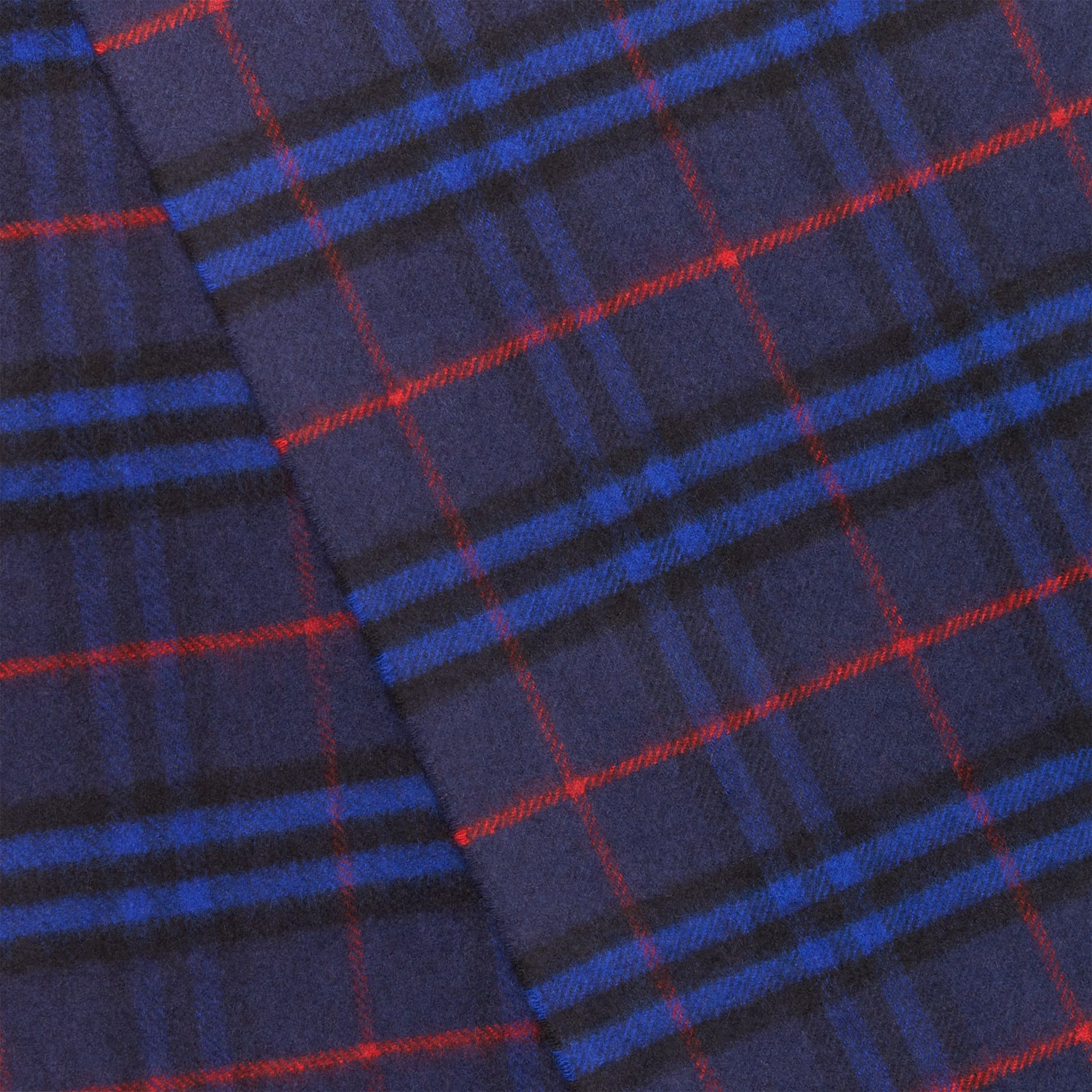 The Classic Vintage Check Cashmere Scarf in Bright Navy | Burberry - gallery image 1