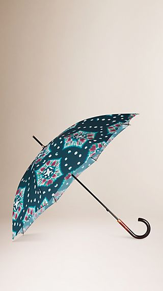 Tie-Dye Print Walking Umbrella