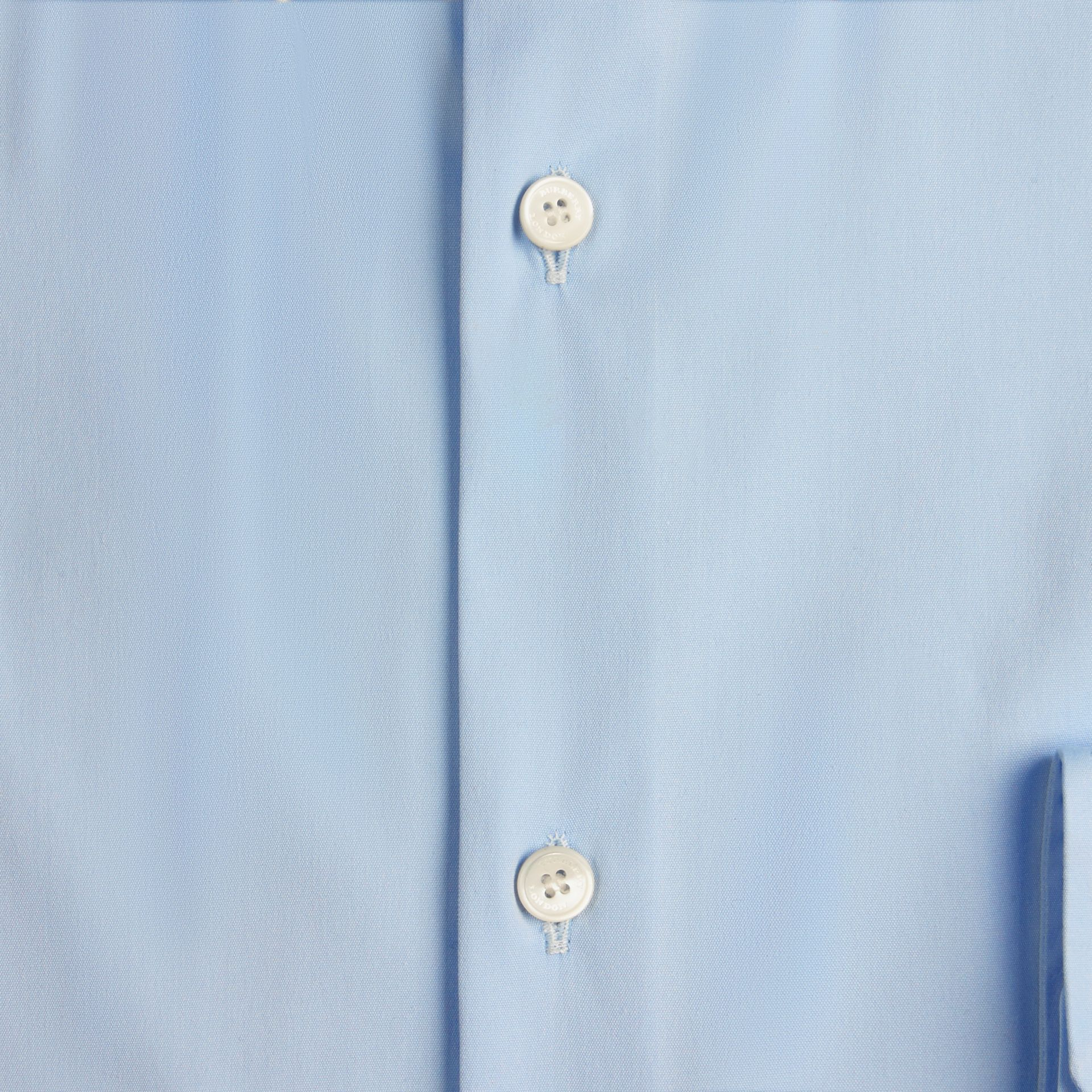 Slim Fit Button-down Collar Stretch-cotton Shirt in City Blue - gallery image 2