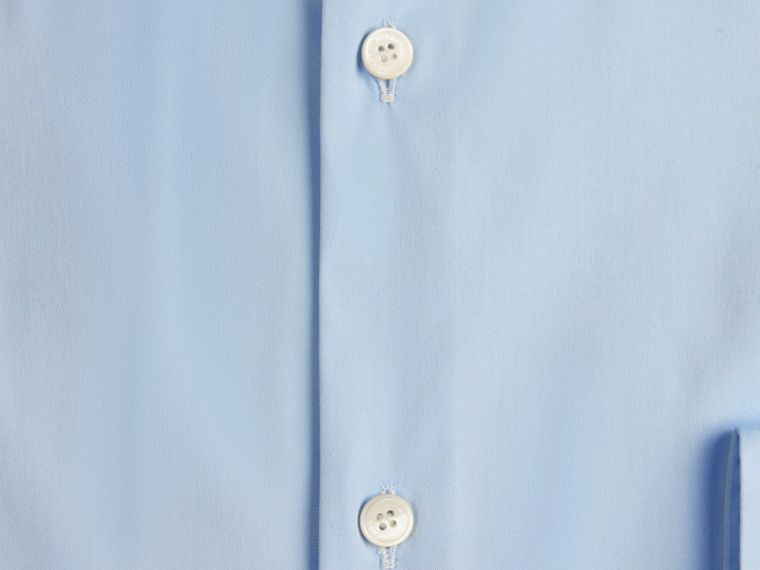 Blu urbano Camicia sfiancata in cotone stretch con colletto button-down Blu Urbano - cell image 1