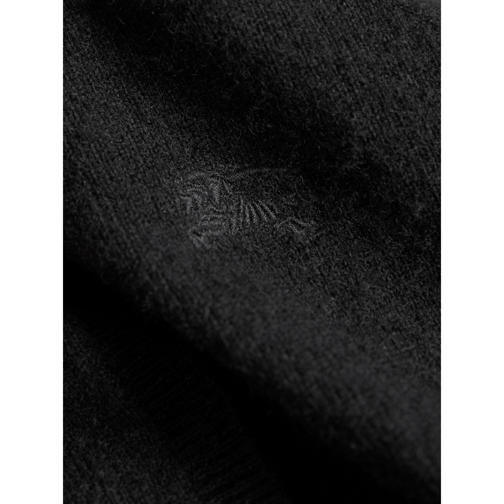 Check Cuff Cashmere Cardigan in Black - Girl | Burberry United States - gallery image 2