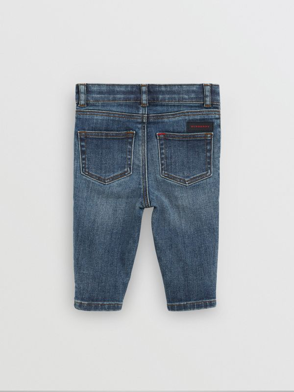 Skinny Fit Stretch Denim Jeans in Mid Indigo - Children | Burberry - cell image 3