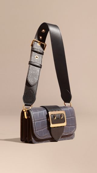The Buckle Bag in Alligator and Leather
