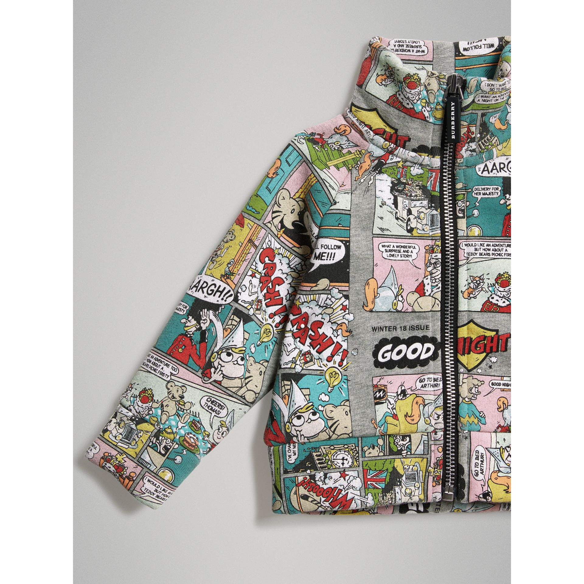 Comic Strip Print Cotton Track Top in Miscellaneous - Children | Burberry Singapore - gallery image 4