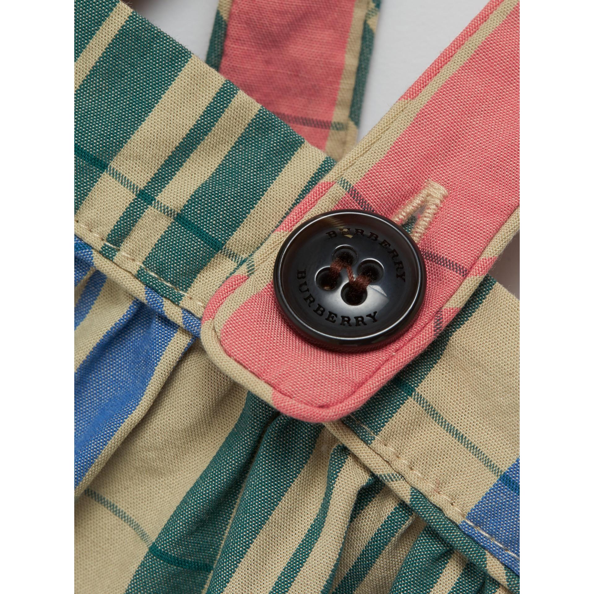 Сарафан из хлопка в клетку (Ярко-розовый Коралл) | Burberry - изображение 1