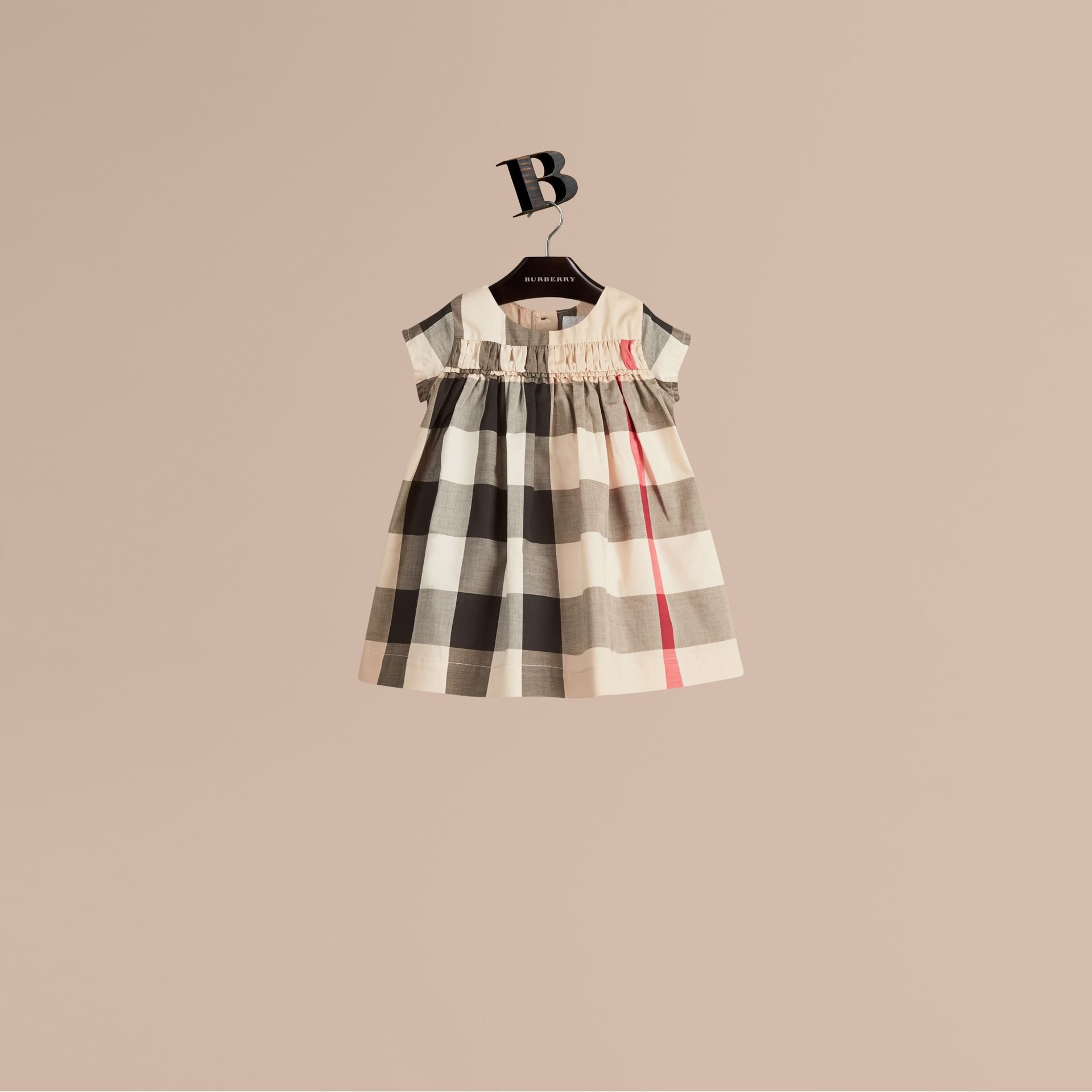 Check Cotton Dress in New Classic - Girl | Burberry - gallery image 1
