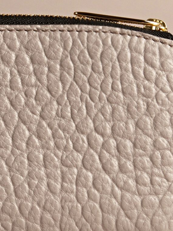Pale grey Signature Grain Leather Ziparound Wallet Pale Grey - cell image 3