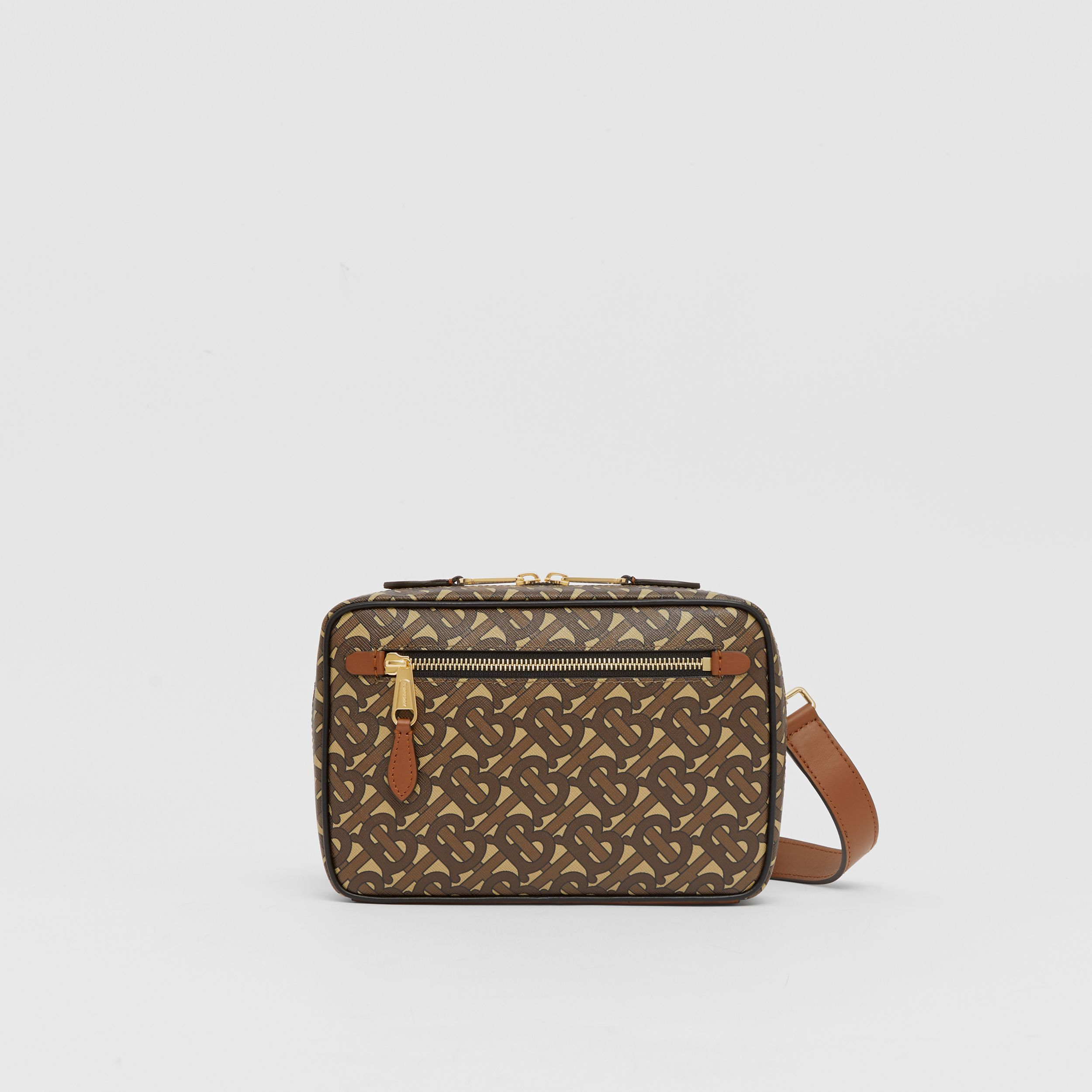 Monogram Print E-canvas Crossbody Bag in Bridle Brown - Men | Burberry - 1