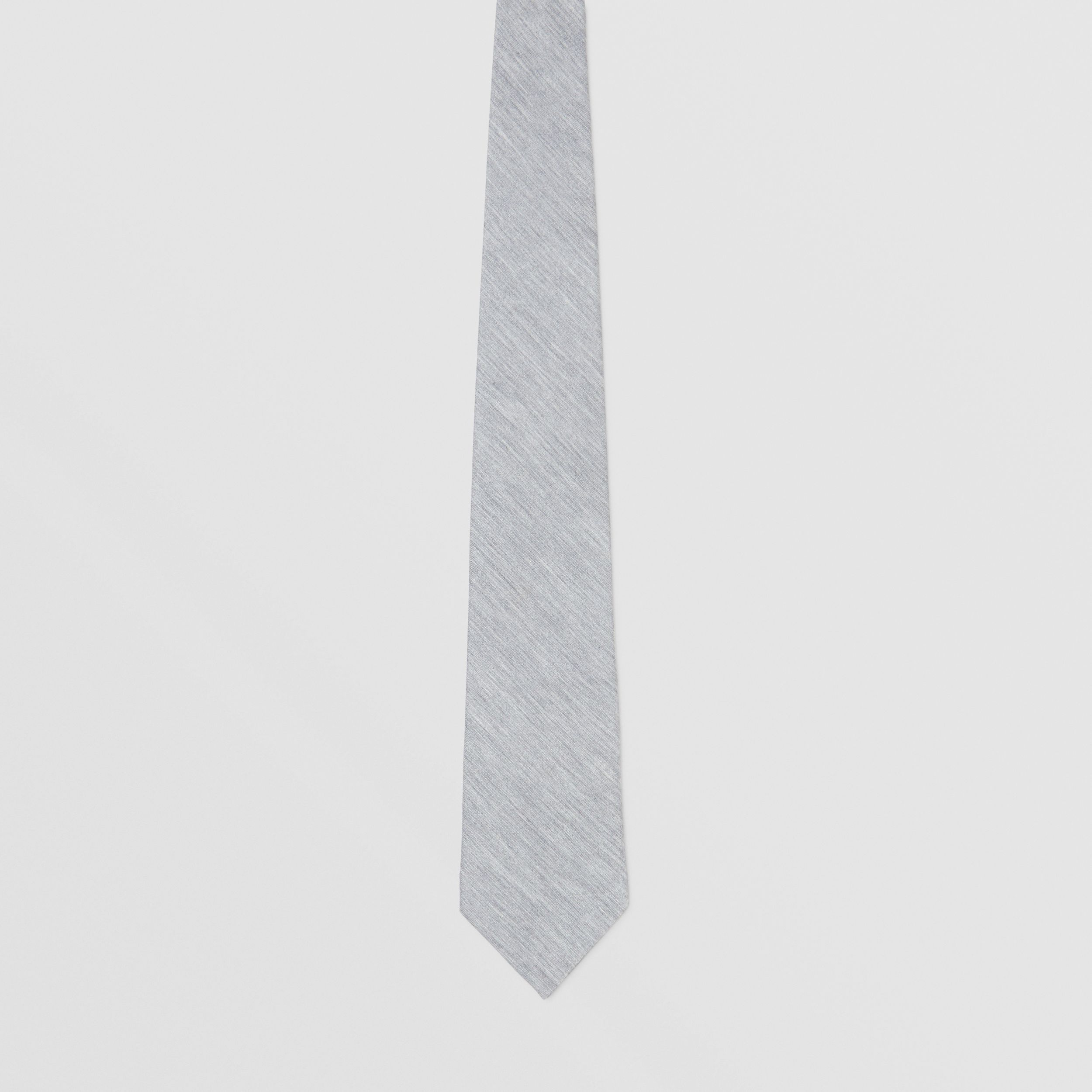 Classic Cut Silk Jersey Tie in Light Pebble Grey - Men | Burberry - 4
