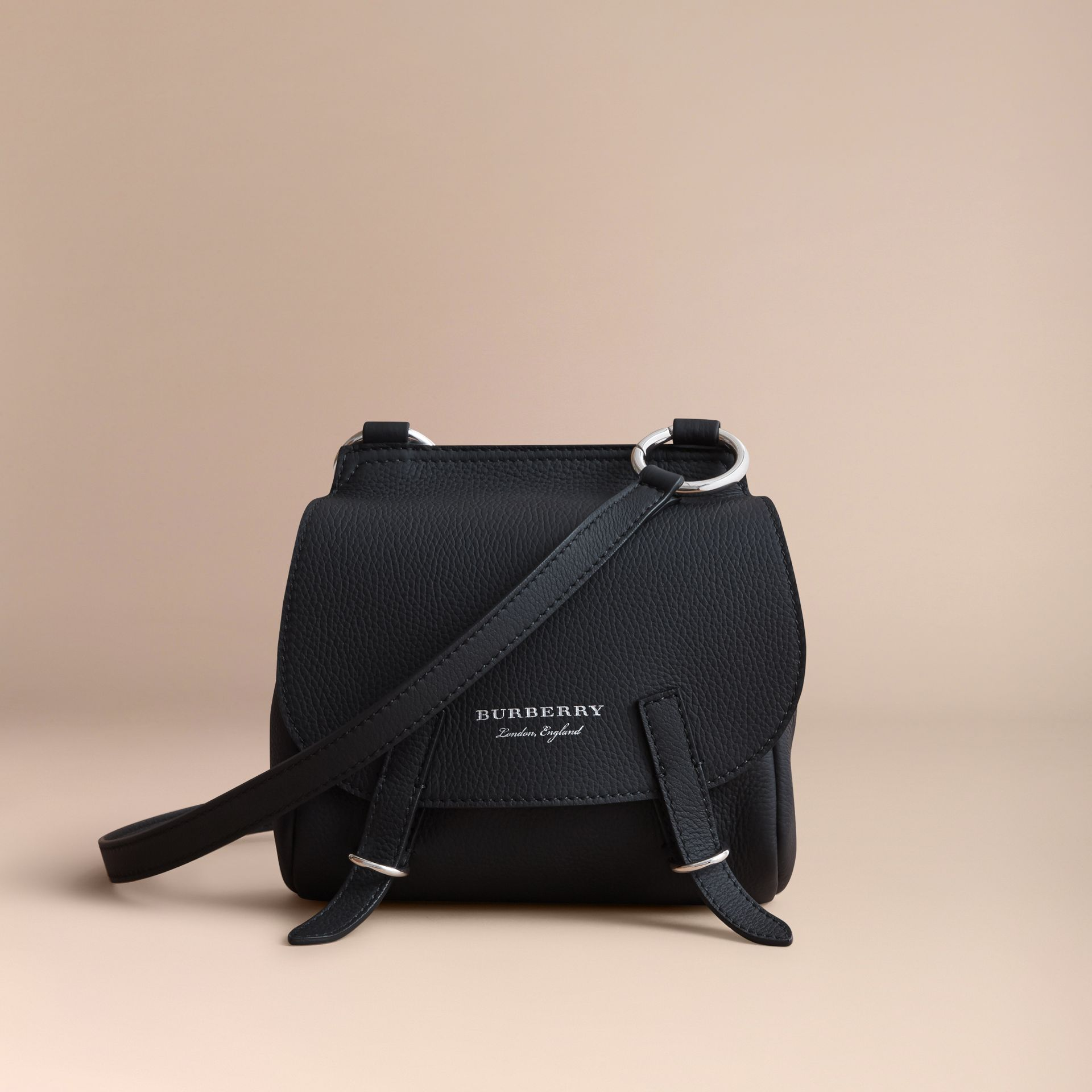 The Bridle Crossbody Bag in Deerskin in Black - Women | Burberry - gallery image 7