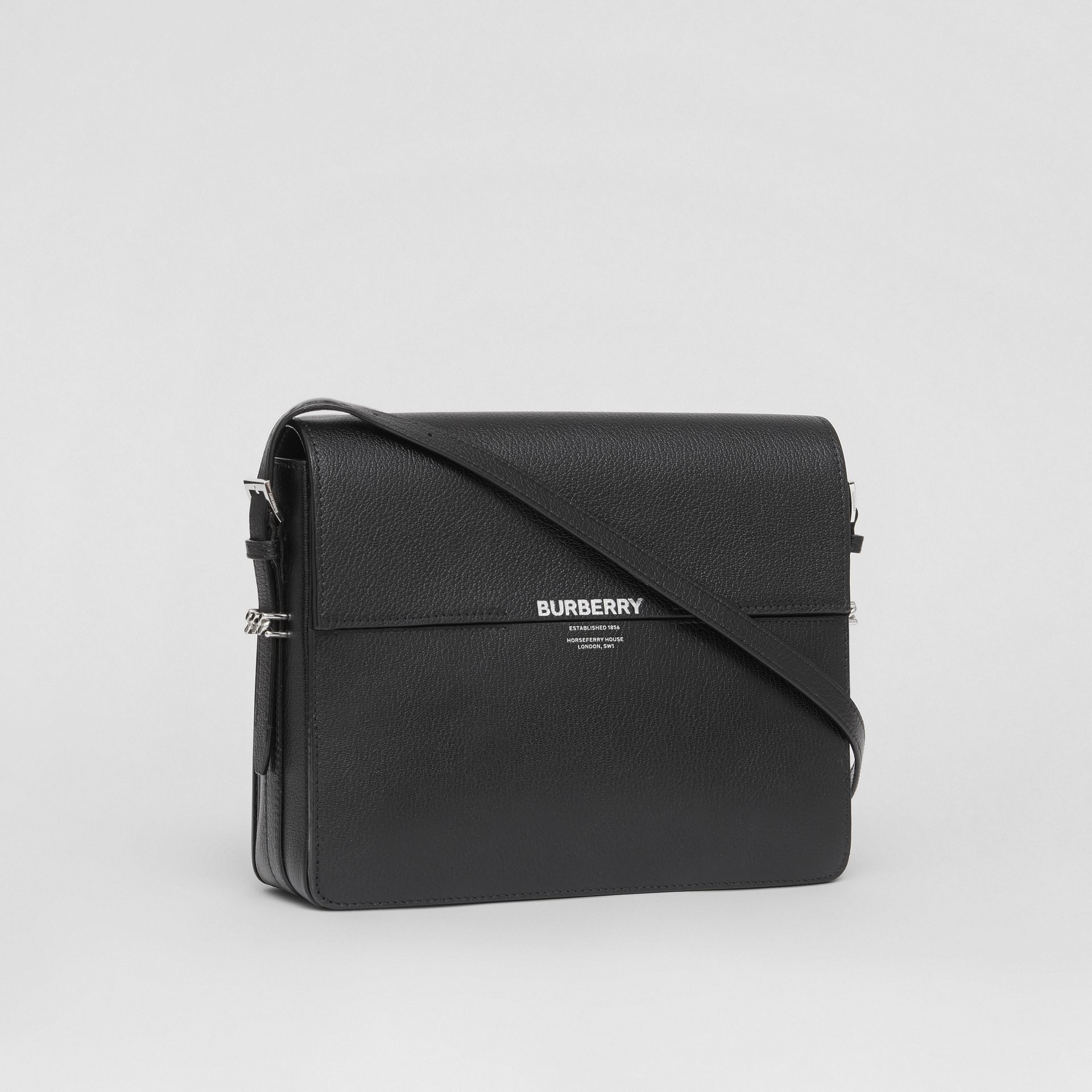 Large Leather Grace Bag in Black - Women | Burberry - gallery image 6