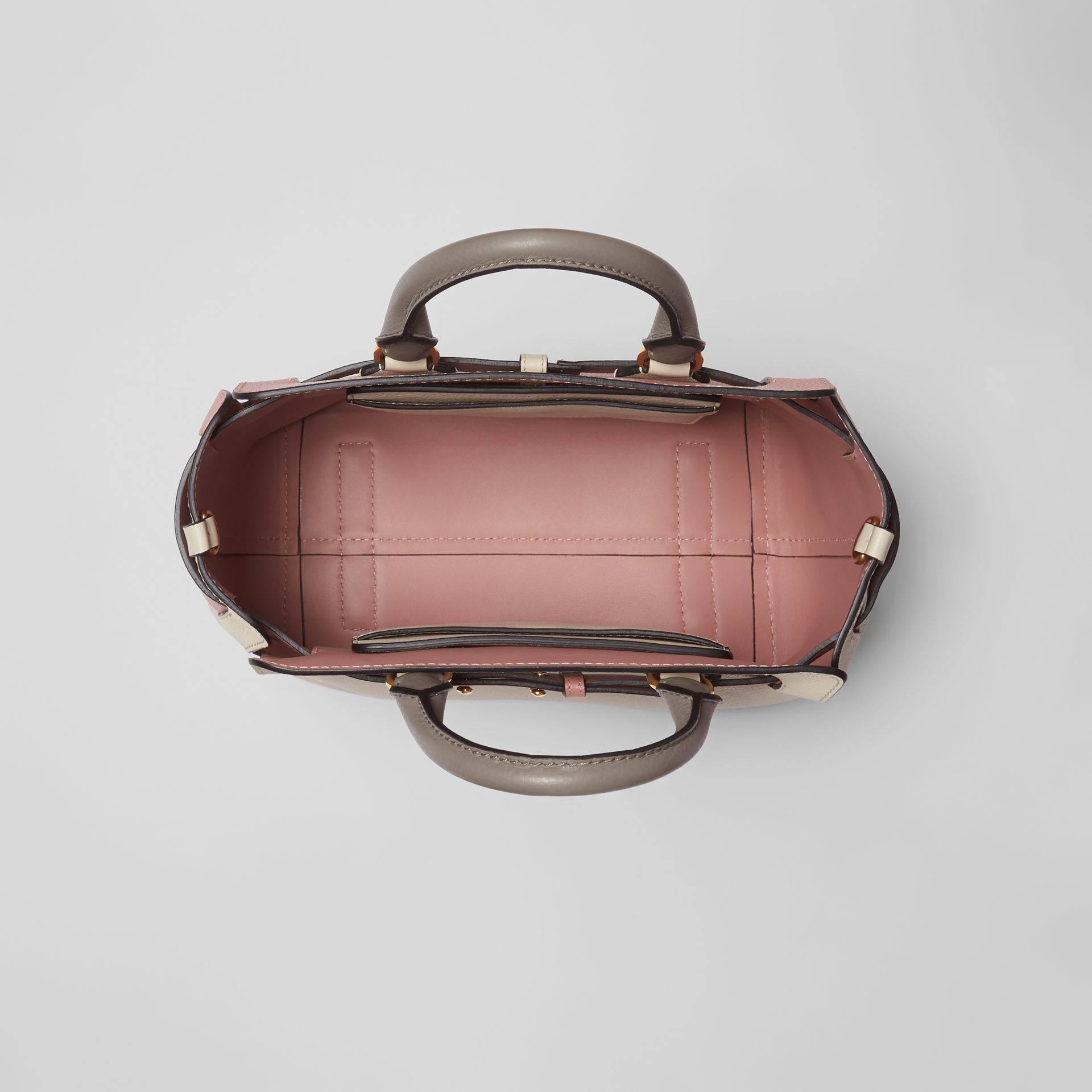 The Small Tri-tone Leather Belt Bag in Limestone/dusty Rose - Women | Burberry Australia - gallery image 5